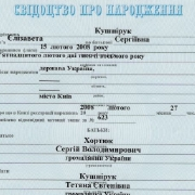 Birth Certificate (ukr)